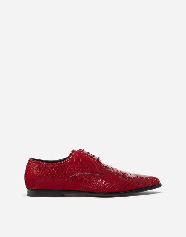 Python derby shoes in RED