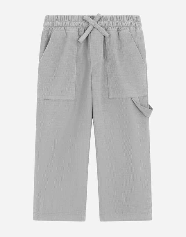 Stretch corduroy worker's pants in Grey