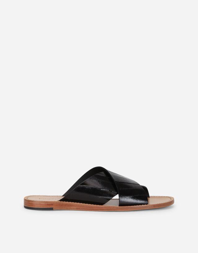 Eel pantheon sandals  in BLACK
