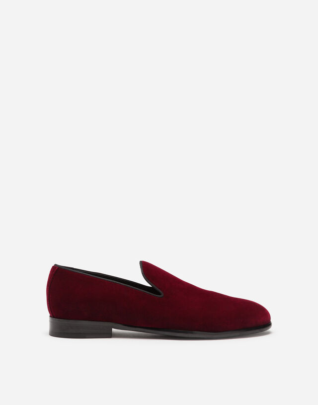 Slippers in velvet in BORDEAUX